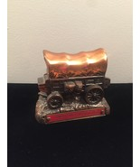 Vintage 50s Banthrico Cast Iron Stagecoach Bank, Guaranty State Bank - $30.00