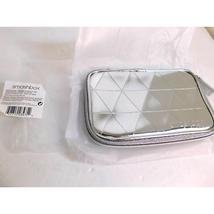 SMASHBOX Metallic Silver Cosmetic Makeup Bag - $18.80