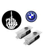 Middle Finger + BMW Door Welcome Shadow LED Logo Projector Light - $25.95