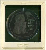 1982 New in Box - Hallmark Christmas Ornament - Christmas is for Friends - $4.89