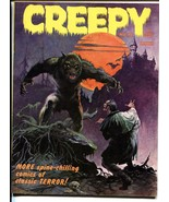 Creepy #4 1965- Frank Frazetta cover-Warren Horror Magazine VF+ - $100.88