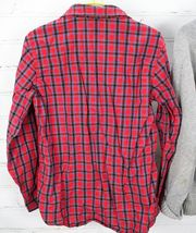 Old Navy Plaid Button Down Shirt + Gap Kids Sweater Boys Size S 6-7 Holiday Set image 4