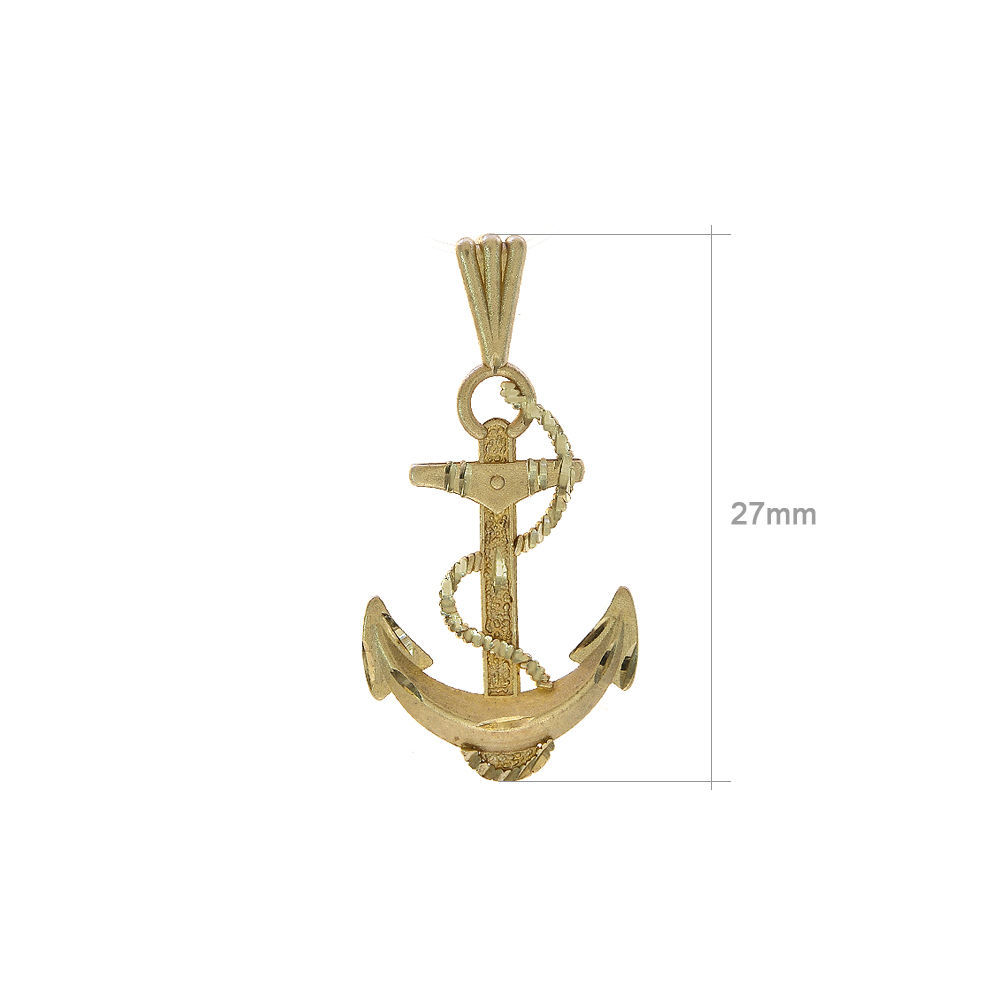 14K Yellow Gold Michael Anthony 1983 Anchor Pendant