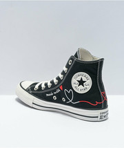 Neu Converse Chuck Schneider Alle Star Love Schwarz Hoch Top Schuhe Damen - $100.69