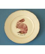 Fanciful Harlequin Rabbit Fine White Porcelain Plate - $10.00