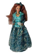 Special Edition Happy Holidays Barbie Doll in Green Gown - $34.65