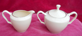 LENOX MONTCLAIR IVORY PLATINUM CREAMER PITCHER SUGAR BOWL PRESIDENTAL - $63.10