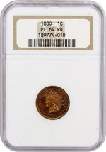 1880 1c NGC PR 64 RD - Indian Cent - $572.30