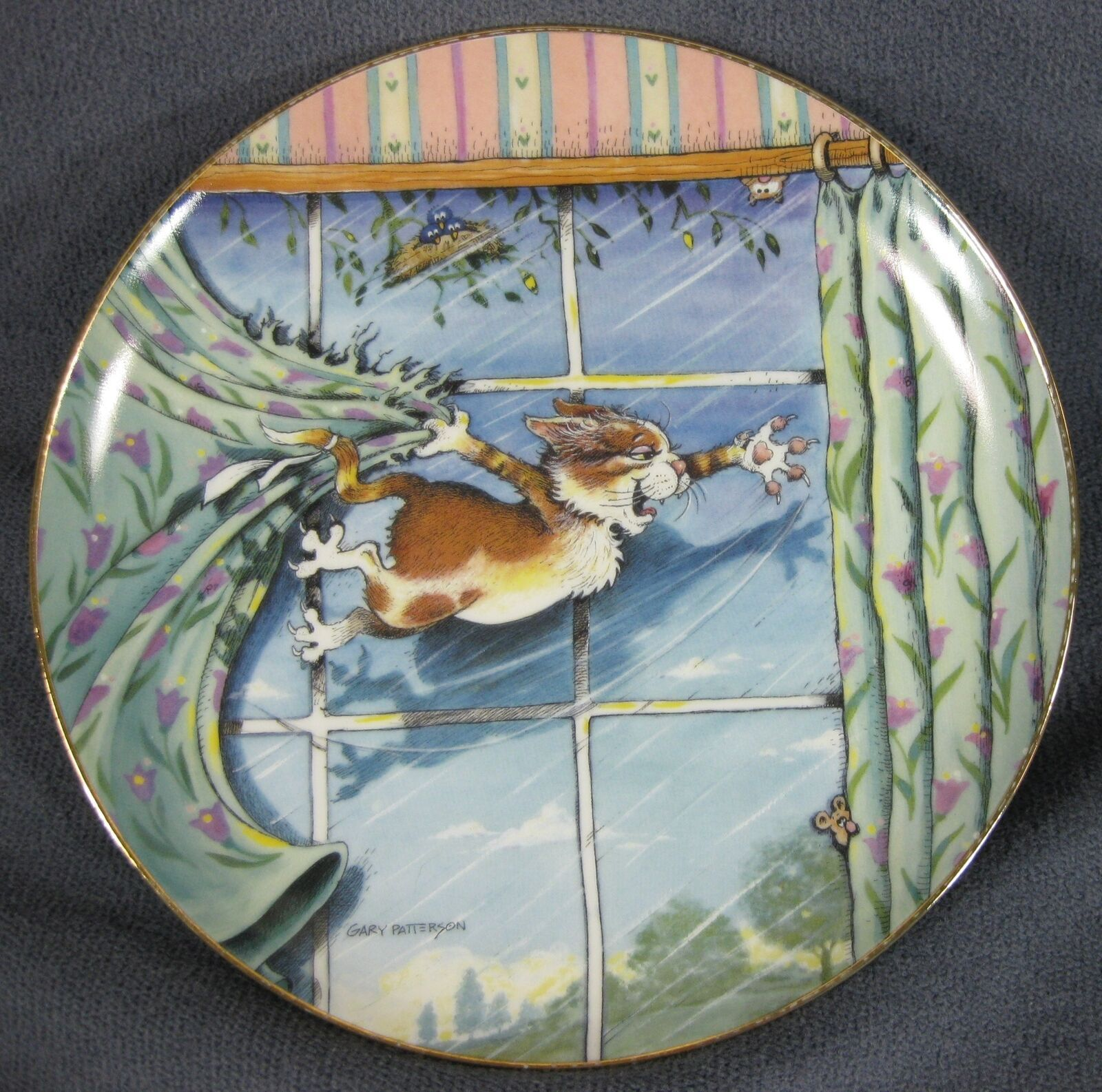 Primary image for Curtain Call Collector Plate Gary Patterson Comical Cats Danbury Mint