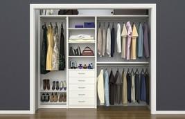Closet Kit Organizer System Storage Space Saver Custom Clothes Shelves S... - €439,81 EUR+
