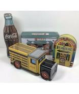 Vintage COCA COLA Metal Tin Lot - Coke Gas Station Truck Bottle Juke Box... - $61.75