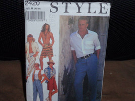 Style 2420 Pattern Men's Casual Pants and Shorts  Size 30-39  New - Uncut - $10.00