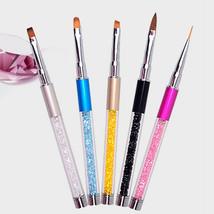Gam-Belle® Nail Art Brush Pen Rhinestone Diamond Metal Acrylic Handle Ge... - $3.94