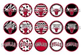 "NBA Chicago Bulls 1"" Bottle Cap Image Sheet (4x6) DIGITAL FILE - $2.00"