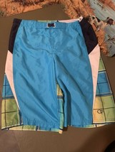 OP Boys Swim Trunks Size XL 14/16blue plaid Pattern - $15.79