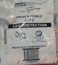 Nibco Press System Female Adapter One Inch Quanity Five 9025250PC Bag of 5 image 2