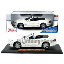 Maisto Special Ed. 1:18 Die Cast White Convertible Coupe MERCEDES BENZ S... - $49.99