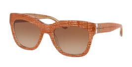 e206c38ec3 TORY BURCH Sunglasses TY 7126 1737 13 Papaya Crystal on Raffia w  Brown  Gradient