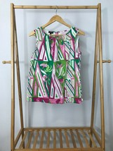 Talbots Women's Sleeveless Floral Multi-Colored Light Top Shirt Size 8 - $10.47