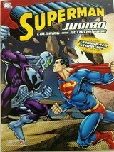 New Superman Jumbo Coloring And Activity Book Includes Two Character Sta... - £4.12 GBP