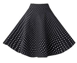 BI.TENCON Women's Vintage Black White Small Polka Dot Swing Casual Cotto... - $24.82