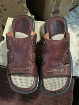 BORN Men's size 13 Brown Leather Sandals Slip On - $17.42