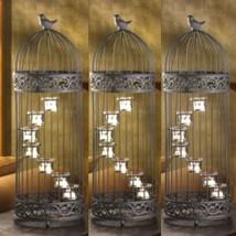 """3 Extra Large Birdcage Lantern Candleholder Wedding Centerpieces 9"""" X 28... - $89.05"""