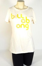 Billabong Signature Cream Short Sleeve Tee T Shirt Womens Large L NWT - $22.27