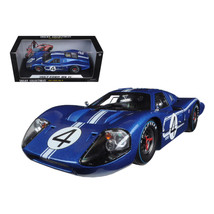 1967 Ford GT MK IV #4 Blue Le Mans 24 Hours L.Ruby / D.Hulme 1/18 Diecas... - $72.82