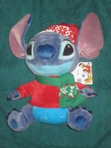 Disney Store Alien Stitch Holiday Stuffed Plush Doll. Aprox.11in. New. - $19.78