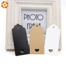 50PCS DIY Kraft Paper Tag Hollow Love Labels Card Hang Tag Wedding Party... - ₨646.46 INR