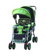 DOUBLE Stroller GREEN  Baby Strollers BEBELOVE 2 Seats Multiple Multi Tw... - $79.19