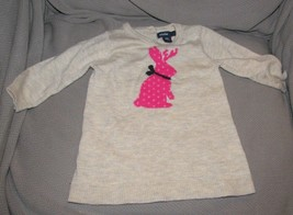 BABY GAP JACKALOPE REINDEER ANTLER BUNNY RABBIT KNIT SWEATER DRESS GIRL 3-6 - $34.64