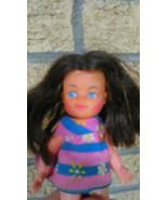 Vintage Blue Box Doll- With Floral Dress & Blue Eyes- Hong Kong - $15.00