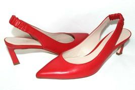 ❤️ Stuart Weitzman Spain Hayday Red Leather Sling-back Pump 9 M Great! L@@K!31 - $46.54