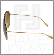 OLIVER PEOPLES BLONDELL Gold Titanium Brown Polarized Round Sunglasses OV 1102ST image 4
