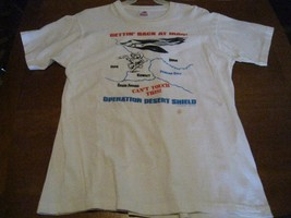 operation desert shield Stealth Shirts tee t-shirt 1990 Gettin Back At I... - $10.66