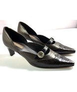 Brighton Women's Brown Leather Pumps Size 8 M Slip On Heels Made in Italy - $88.96