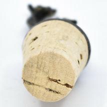 South African Cast Metal Antique Brass Finish Giraffes Wine Bottle Cork Stopper image 5