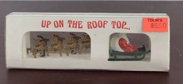 Dept. 56 UP ON THE ROOF TOP...Santa and reindeer - $11.30