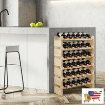 36 Bottles Stackable Wooden Wobble-Free Modular Wine Rack - $86.10