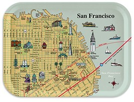 Trays4Us San Francisco Piers 11x8 inches Medium Breakfast Tray - 70+ Dif... - $26.87