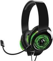 Afterglow AGX.50 Xbox 360 Green Light Up Gaming Mic USB Headset Windows ... - $34.29