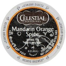 Celestial Seasonings Mandarin Orange Spice Herbal Tea, 24 K cups FREE SHIPPING - $19.99