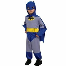 NEW Batman Blue Halloween Costume Toddler 1-2 Years Rubies Jumpsuit Mask... - $19.75