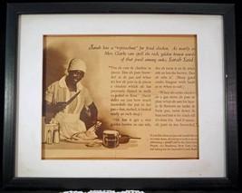 1920's Snowdrift Shortening Derogatory Black Americana Magazine Ad Frame... - $19.99