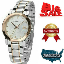 100% Brand NEW Burberry Silver Dial Two-tone Ladies Watch BU9127 - $310.86