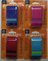 Fiskars 95900 Mess Less Pencil or Crayon Sharpener School Art 4pcs. - $5.94