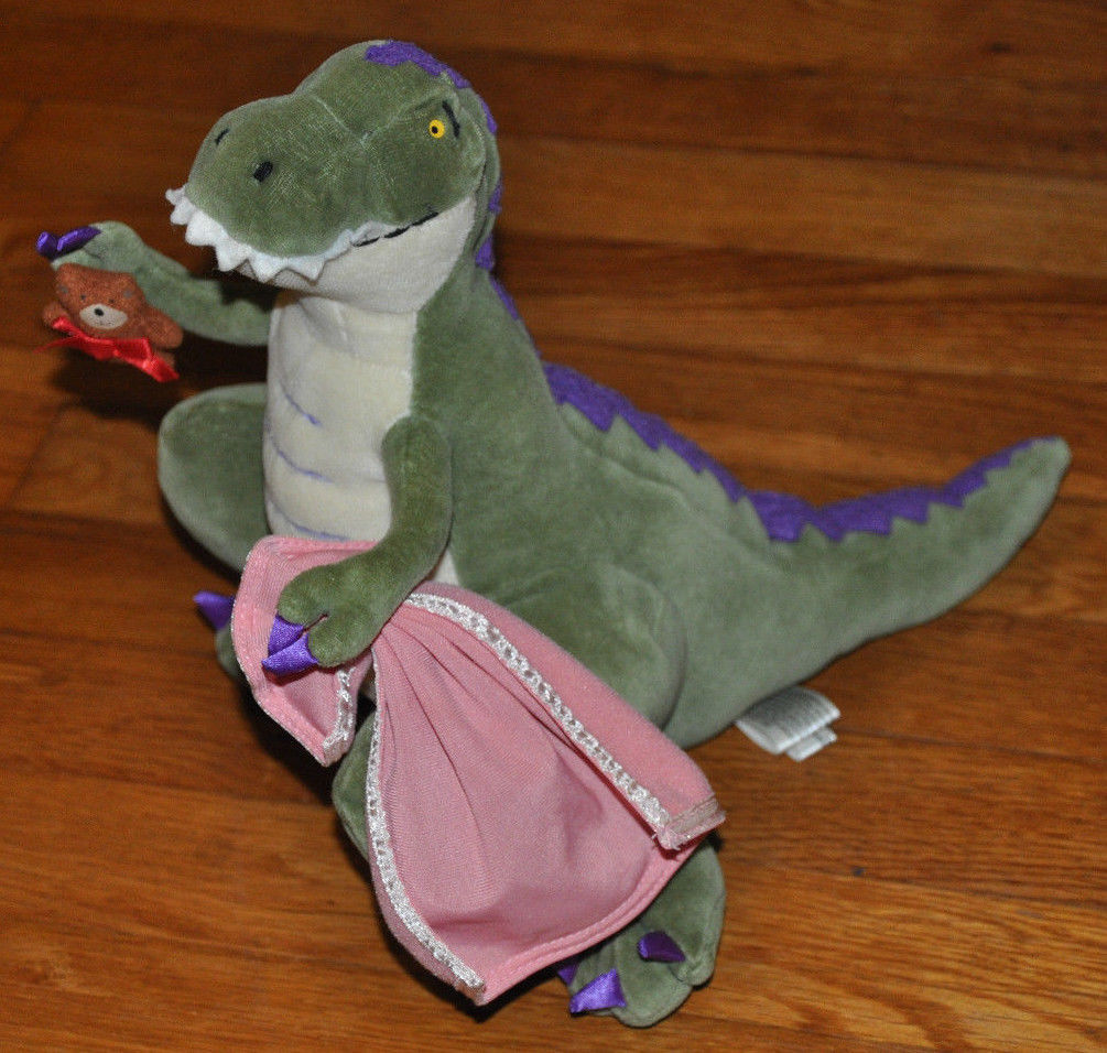 """MerryMakers How Do Dinosaurs Say Good Night? Plush Doll, 14"""""""