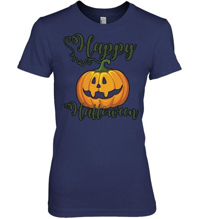 Funny Halloween Tshirt Happy Halloween Cute Fall Pumpkin